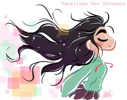 Teen Vanellope free hair style from Wreck It Ralph by princekido
