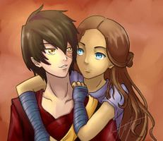Zutara-Not Stalking Zuko by kuroyukii