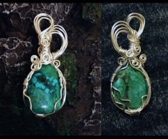 Traquility, Turquoise Pendant by SunreiCreations