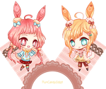 Twin Bunny Adoptable (Sold/Closed) by RumCandyAdopt