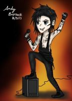Andy Biersack chibi - Black Veil Brides by BlacklightArtist02