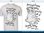 T-shirt design #2 - (Soft Kitty) Grumpy Kitty by Wojdan