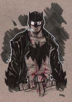 Rockabilly Batman sketch by DenisM79