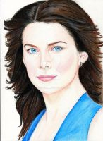 Lauren Graham (Colored Pencil drawing) by julesrizz