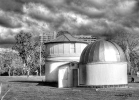 The Observatory BW by DanielleMiner