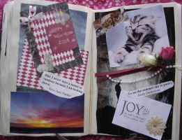 1st Altered Book 33, Favorites by angelstar22