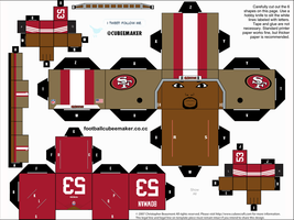 NaVorro Bowman 49ers Cubee by etchings13