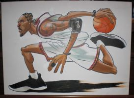 Allen Iverson painting by MisterHardtimes