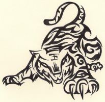 Tribal Tiger by Ruttan