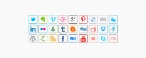 Minimal Social Media Icons Psd by blugraphic