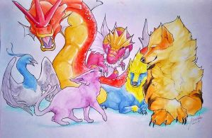 My Personal Pokemon Team by Kempping