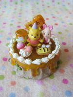 Winnie the Pooh Cake Pendant by Rotting-Soul