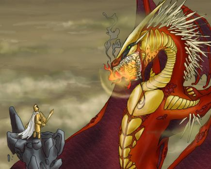 dragon and knight detail by bongoshock