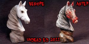 Chasity Zombie Horse Bust Comp by Undead-Art
