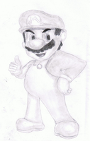 Mario Drawing by Ravenblade234