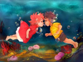 Ponyo- Our happy end by Mala-Harpia