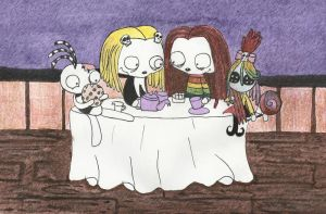 Lenore and Tahnee have a tea party by ScorpionsKissx