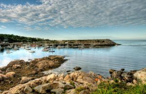 Rockport Harbor HDR Flowers 1 by photoboy1002001