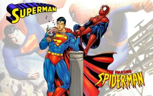 Superman vs Spiderman Arm Wrestling WS 2 by Superman8193
