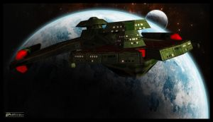 Mirror Universe - Regent Worf's Flagship by MotoTsume