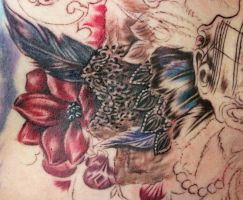 Masquerade Chest Tattoo done by Sean Ambrose by seanspoison