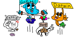 gumball and friends by Eviana1