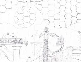 Sonic Game: Mechanical Dome Concept Art by superskeetospro