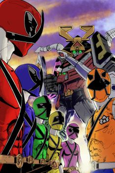 Power Rangers Samurai by diabolicol