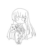 hell girl - lineart by kyo4455