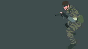 Naked Snake Minimalist Wallpaper by GaryMotherPuckingOak