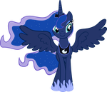 Princess Luna S2 Finale Vector by TheOneWithTheOctaves