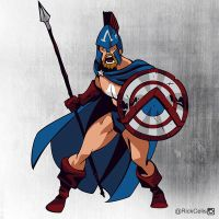 Commission - Captain Sparta by RickCelis