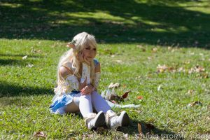 Elf on the Grass by Stormfalcon