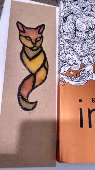 Stainglass Cat bookmark by Silvestrin