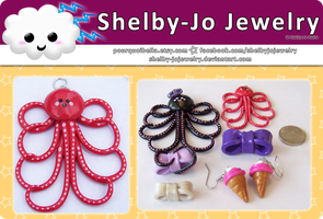Red Octopus Pendant by Shelby-JoJewelry
