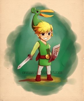 Link Minish Cap by Oremaru
