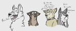 Wolf's Rain Doodles 2 by SheaTheDestroyer