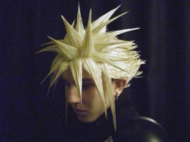 My new Cloud Strife wig by MrManson86