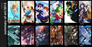 2015 Summary Of Art by awanqi