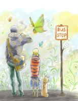 bus stop by 13febr