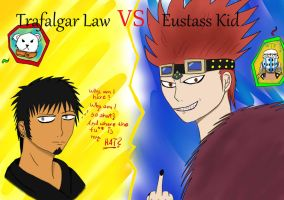 +Trafalgar Law VS. Eustass Kid xD by Chiku-Chan1521