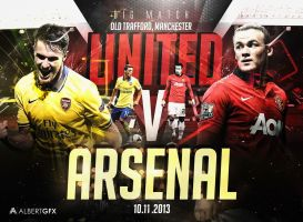 United V Arsenal  by AlbertGFX