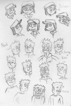 Ugly cartoon faces by FinePure3vil