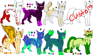 Adoptables Batch 7 ~CLOSED~ by guardianhawkpool