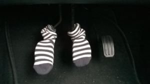 Baby socks on my car pedals by bordeauxman