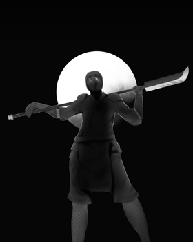 Blood Moon (Grayscale) by DamisDesigns