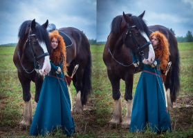 Merida and Angus_2 by GreatQueenLina