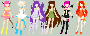 TMM OCs: Final Designs by CrazyForDeiDei