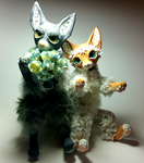 OOAK Vixen n Wolf FOR SALE by TotemEye