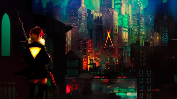 Transistor Wallpaper by AimlessOrange